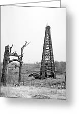Old Wooden Oil Derrick Greeting Card