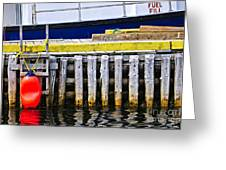 Old Wooden Pier In Newfoundland Greeting Card