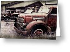 Old Work Trucks Greeting Card
