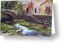 Old World Cottage Greeting Card