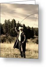 Old World Cowboy Greeting Card