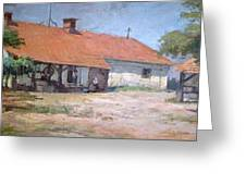 Old  World Slovenian Farmhouse Greeting Card