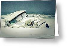 Old Wreck Greeting Card