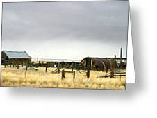 Old Wyoming Farm Greeting Card