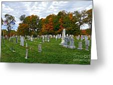 Old Yard Cemetery Stowe Vermont Greeting Card