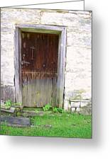 Old Yingling Flour Mill Door Greeting Card by Don Struke