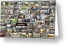 Old Zagreb Collage Greeting Card by Janos Kovac