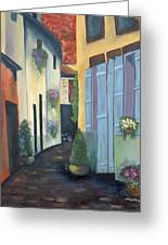 Olde Towne Greeting Card by Shirley Lawing