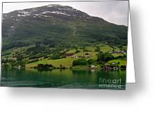 Olden Fjord, Norway Greeting Card