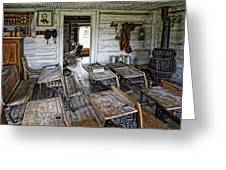 Oldest School House C. 1863 - Montana Territory Greeting Card