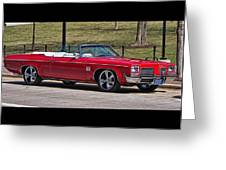 Oldsmobile Delta Royale 88 Red Convertible Greeting Card