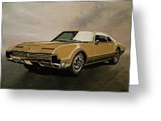 Oldsmobile Toronado 1965 Painting Greeting Card