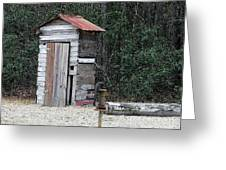 Oldtime Outhouse - Digital Art Greeting Card