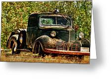 Ole Dodge And Apples Greeting Card