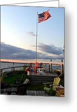 Ole Glory At Rossetti Point  Greeting Card