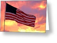 Ole Glory Greeting Card