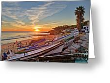 Olhos D'agua Village Sunset Greeting Card