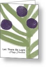 Olive Branch Hanukkah Card- Art By Linda Woods Greeting Card