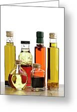 Olive Oil,salad Dressing And Vinegar Greeting Card