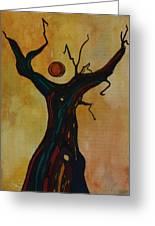 Olive Tree Woman Greeting Card