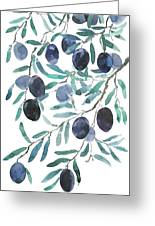 Olive Watercolor 2018 Greeting Card