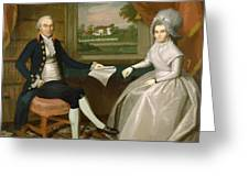 Oliver And Abigail Wolcott Ellsworth 1801 Greeting Card