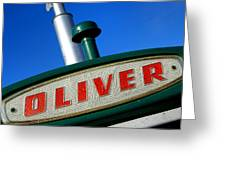 Oliver Tractor Nameplate Greeting Card