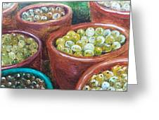 Olives By The Crock Greeting Card