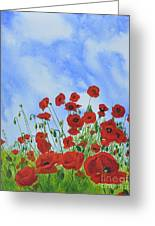 Olivia's Poppies Greeting Card