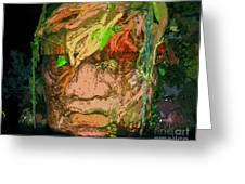 Olmec Man Greeting Card