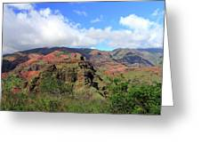 Olokele Canyon From Robinson Ranch Greeting Card