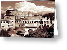 Colosseum From Roman Forums  Greeting Card