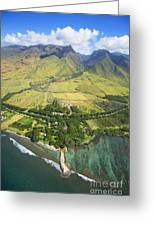 Olowalu Aerial Greeting Card