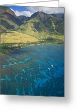 Olowalu Aerial Greeting Card