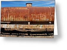 Ols Rusty Container Train Wagon Greeting Card