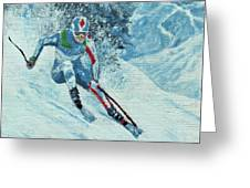 Olympic Downhill Skier Greeting Card