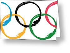 Olympic Ensos Greeting Card