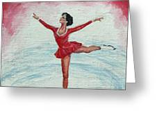 Olympic Figure Skater Greeting Card
