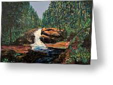 Olympic Park Waterfall Greeting Card