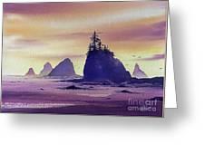 Olympic Seashore Greeting Card