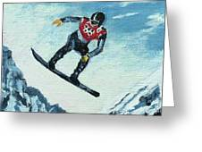 Olympic Snowboarder Greeting Card