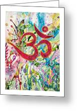 Om In Nature Greeting Card