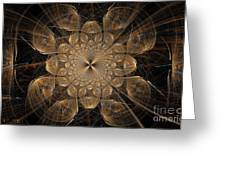 Om Particles Greeting Card