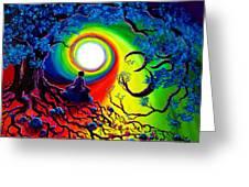 Om Tree Of Life Meditation Greeting Card