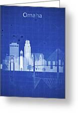 Omaha Blueprint Skyline Greeting Card
