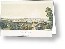 Omaha, Nebraska Looking North From Forest Hill 1867 Greeting Card