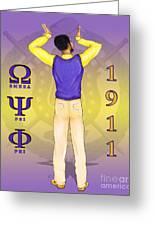 Omega Psi Phi Greeting Card