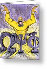 Omega Psi Phi Fraternity Inc Greeting Card by Tu-Kwon Thomas