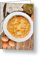 Omelette Tortilla Greeting Card