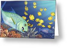 Omilu Bluefin Trevally Greeting Card